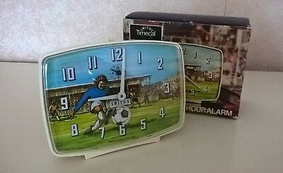 Vintage SMITHS FOOTBALL SOCCER ANIMATED TIMECAL CLOCK Retro Original BOXED 1970s