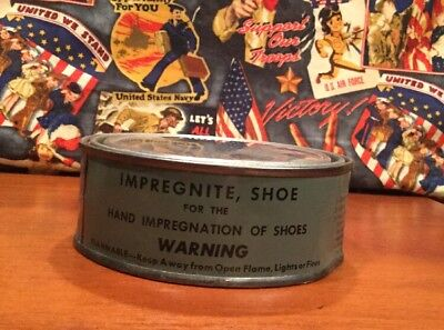 WW2 US Military USGI USMC Shoe Boot Inpregnite Tin Can New Old Stock Unissued