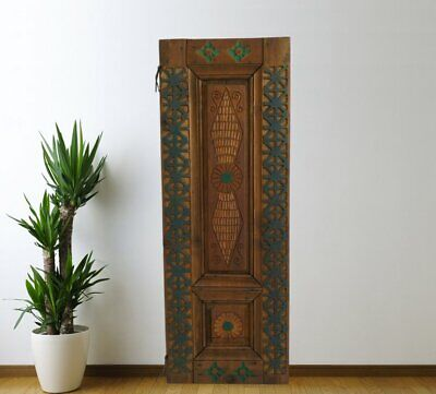 Vintage Cabinet Door Carved,Solid Wood Antique Panel Architectural (46'')