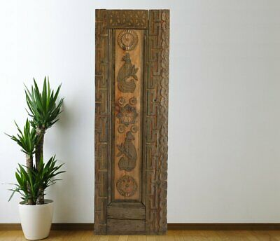 Vintage Cabinet Door Carved,Solid Wood Antique Panel Architectural (66'')