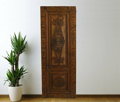 Vintage Cabinet Door Carved,Solid Wood Antique Panel Architectural (54'')