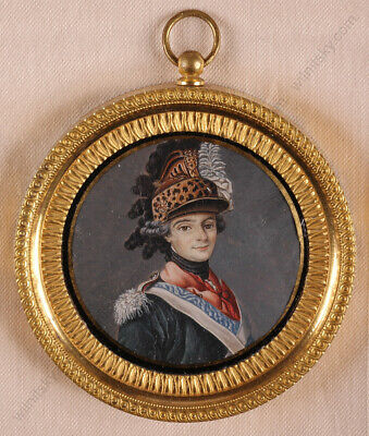 """Louis de France"", French Miniature on Vellum, Ormolu Frame, late 18th century"