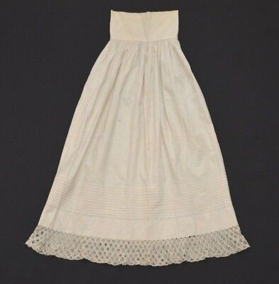 Antique Victorian Edwardian era Baby Long Under Slip Dress Cotton With Lace