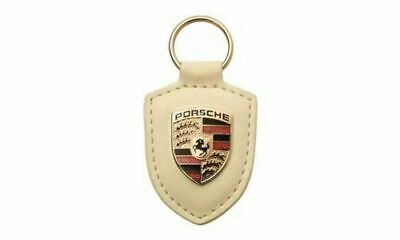 Red Porsche Crest Keyring Keychain Leather Accessory New in Plastic Packaging!