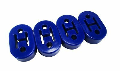4 x Exoracing Polyurethane Exhaust  hanger rubber heavy duty universal BLUE