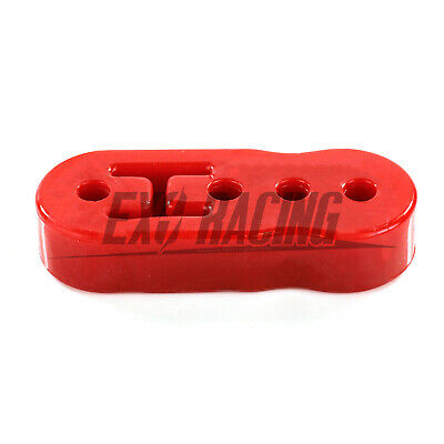 1 x Exoracing Red Polyurethane Exhaust  hanger rubber Long universal