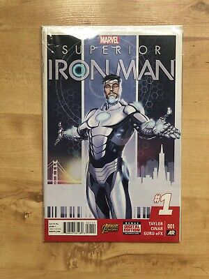 Marvel Comics Superior Ironman Single Issue #1 Avengers Now! & Digital Edition