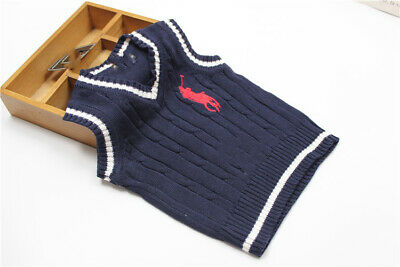 NEW Baby Kids Toddler boys and girls knitting vest sweater three colours 1Y-5Y