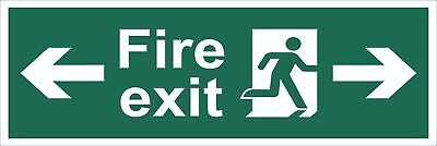 Fire Exit Running Man Arrow Right And Left Sign , Self Adhesive Vinyl1mm PVC,