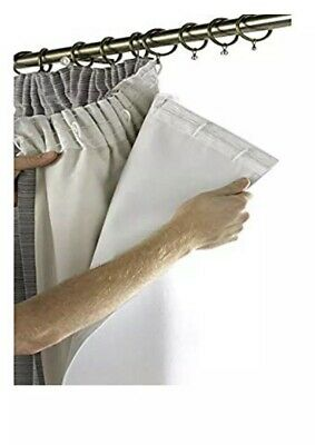 """rejuvopedic SRC Solar Reflective Coated Blackout Thermal Curtain Lining 66"""" x 52"""