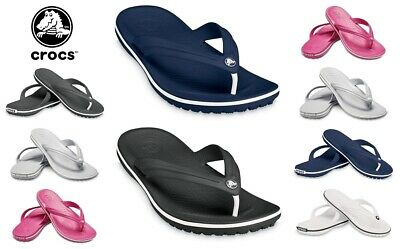 Crocs Crocband Flip Flops Mens Womens Beach Summer Shoes Soft Thong Toe Sandals
