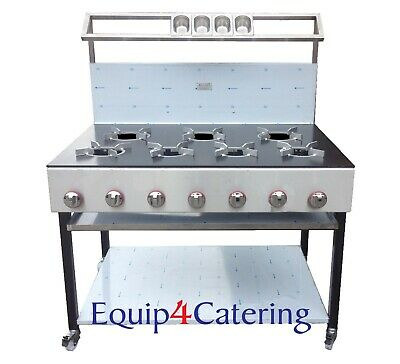 7 Burner Cooker Heavy Duty For Commercial Use