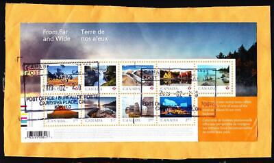 Canada used:  2019 From Far and Wide souvenir sheet