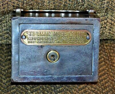 VTG 1930s Advertising Sherman Graphophones Musical Instruments Bank Chicago