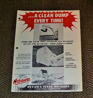 VTG 1959 Advertising Ottawa Dirt Ejector Bucket Willys Jeep Vehicles