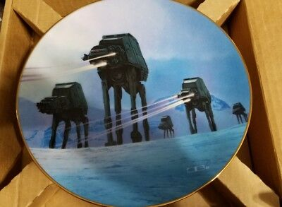 Hamilton Star Wars Imperial Walkers Limited Numbered Plate with COA