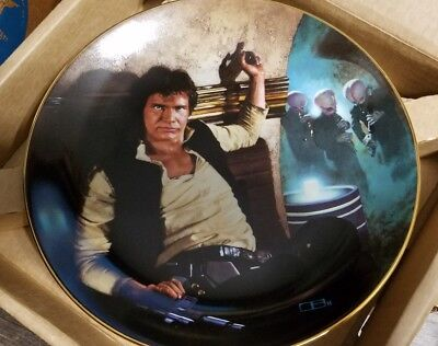 Hamilton Star Wars Han Solo Limited Numbered Plate with COA