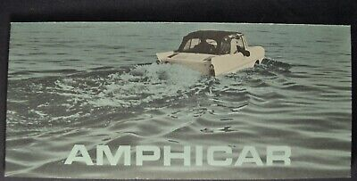 1963 Amphicar Sales Brochure Folder Excellent Original 63 Canadian