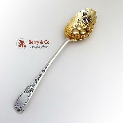 Antique Irish Tablespoon Repousse Bowl Decorations Sterling Silver