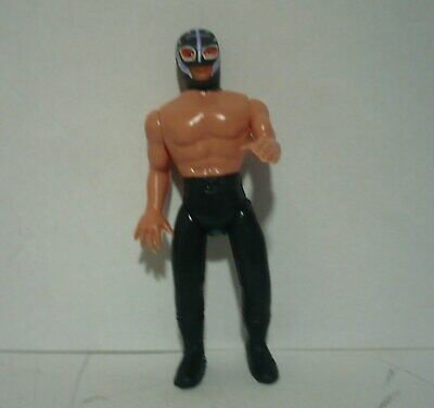 Mexican Toy Wrestler Figure Blowed Plastic TINIEBLAS Made In Mexico Bootleg