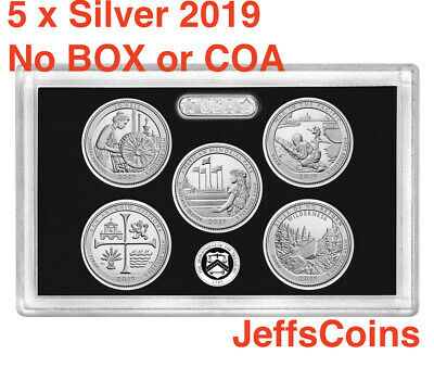 2019 S 99.9% SILVER Quarters Mint Proof Set Lowell -Frank River  NO Box/COA 19aq