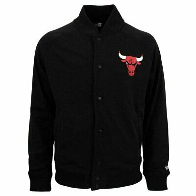 Chaqueta New Era Nba Chicago Bulls Core Jersey Varsity Negro Hombre
