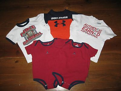 Under Armour Nike Jordan Boys Tops (Lot of 5) Size 9-12 Months GUC