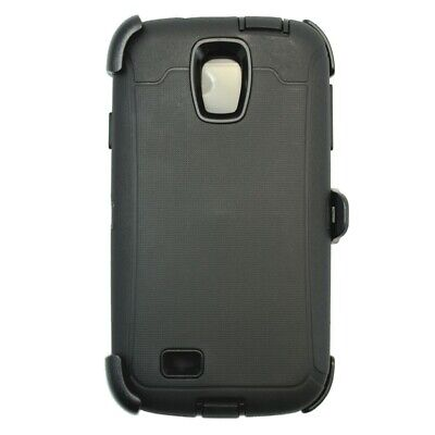 For Samsung Galaxy S4 Case Cover w/(Clip Fits Otterbox Defender) Black