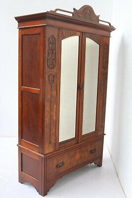 Vintage Wardrobe In The Art Nouveau Style Good Condition !!!