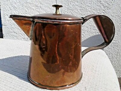 "ANTIQUE VINTAGE COPPER WATER JUG / COFFEE / TEA POT ""Torrent Walk"" Hotel, WALES"