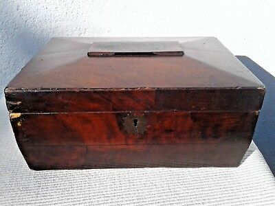 Antique Sarcophagus Wooden Storage / Trinket / Jewellery / Stationary Box