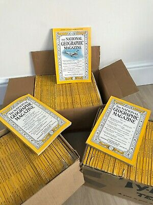 National Geographic Magazine Lot (1952-1960 109 Issues)
