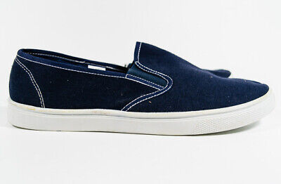 001f02afceed8 Men s Sun   Sky Navy Blue Canvas Casual Slip On Sneaker Flats Shoes ...