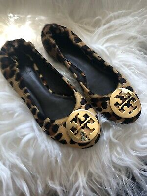 551539db1a22 TORY BURCH BLACK Kendrick Tumbled Leather Driver Loafers Size 5.5 ...
