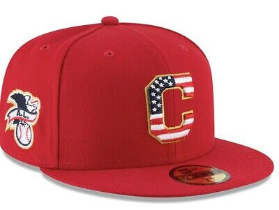 official photos 84be3 db22b New Era Cleveland Indians MLB Stars   Stripes 4th of July 59Fifty Hat 7 1