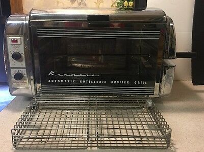 Vintage Kenmore Automatic Rotisserie Broiler Oven WORKS
