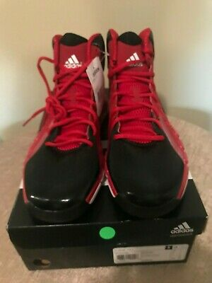 0f60adf27592b New W tag Men Adidas Red  Black Basketball Shoes Sz 11.5 Wow!