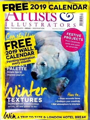 Artists & Illustrators Magazine December 2018 ~ Sealed With Free 2019 Calendar ~
