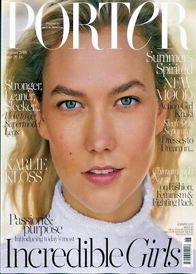 Porter Magazine #26 Summer 2018 ~ Karlie Kloss Cover ~ New ~
