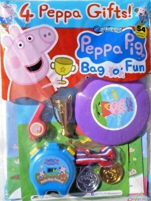 PEPPA PIG BAG OF FUN MAGAZINE ISSUE #101 ~ NEW WITH 4 x PEPPA GIFTS ~