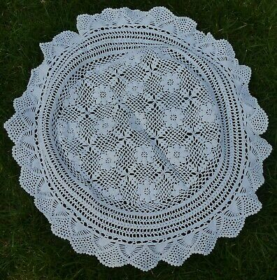 Vintage White Crochet Lace Circular Table Centre Large Doily