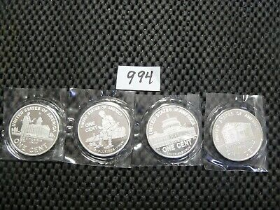 994:  (4) Troy Ounce Lincoln Silver Ingots