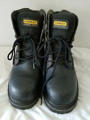 ff45e0799f6 STANLEY STEEL TOE Men's Work Boots Size 12M USA Preowned black oil resistant