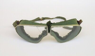 Antique Motorcycle Aviator Military Goggles Safety Glasses