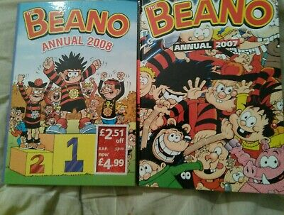 Beano Annuals Job Lot there dates are 2007/2008
