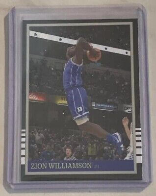 Zion Williamson Duke Basketball # 1 Two Handed Slam Blue Devils ACEO