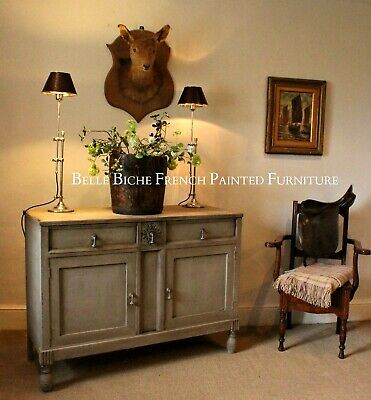 French Painted Antique Edwardian Two Door Sideboard -Side Cabinet