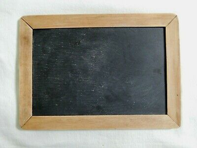 Nice Vintage Child's Double Sided Writing Slate Chalkboard Wood Frame Hand Held