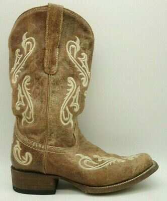 7a279cb1bfb ROPER WOMENS WESTERN Cowboy Boots Size US 7 EU 38 Black Brown Cow ...