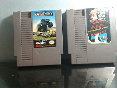Nintendo NES 2 Game Lot - Super Mario Bros.Big Foot! TESTED